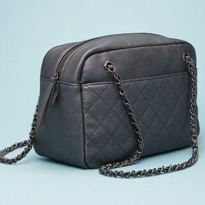 Grey chain bag